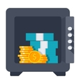 Opened Safe Icon vector image