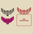 Owl decoration vector image vector image