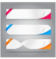 Paper tag banner with open corner vector image