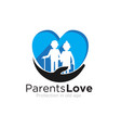 parents love logo designs care for foundation vector image