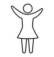 pictograph human woman flat design vector image vector image