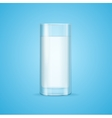 Realistic Milk Glass vector image vector image