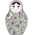 Russian doll matrioshka Babushka sketch on white vector image