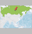 russian federation location on asia map vector image vector image