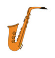 saxophone musical instrument icon image vector image