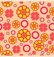 seamless geometric pattern red with yellow vector image vector image
