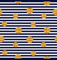 seamless striped pattern with glitter dots vector image