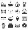 set of breakfast icon vector image vector image