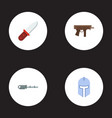 Set of game icons flat style symbols with