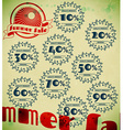 Set of summer sale retro labels vector image
