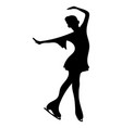 silhouettes girls skaters figure skating black vector image vector image