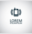smartphone calling icon for web and ui on white vector image vector image