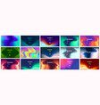 Smooth abstract colorful gradient backgrounds set