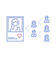 social media influence popular person profile vector image vector image