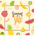 square banner template for summer sale decorated vector image vector image