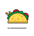 taco icon on white background for graphic and web vector image