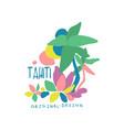tahiti island logo template original design vector image vector image