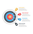 target infographics vector image vector image
