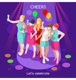 team party 07 people isometric vector image vector image