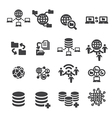 tectnology and data icon vector image vector image