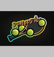 tennis professional sport typography in retro vector image