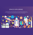 trendy flat gradient space universe vector image