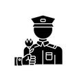 war veterans charity black glyph icon vector image