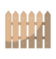 wooden fence isolated vector image