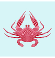 Zentangle stylized red King Krab Hand Drawn vector image vector image