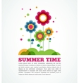 colorful flowers summer time vector image