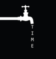 fountain with faucet black vector image