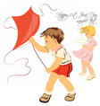 Happy children playing vector image