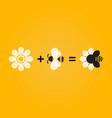 bee flower company logo concept vector image