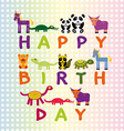 Happy birthday card on pastel color background vector image
