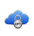 Protected cloud computingservice vector image