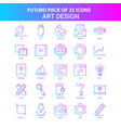 25 blue and pink futuro art design icon pack vector image vector image