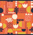 abstract scandinavian style floral feminine summer vector image vector image