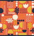 abstract scandinavian style floral feminine summer vector image