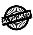 All you can eat stamp vector image vector image