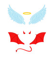 angel and devil wings flat