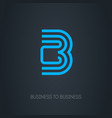 b2b logo busines-to-busines logotype concept vector image