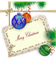 background for Christmas greetings invitation or vector image vector image