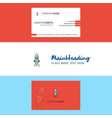beautiful rocket logo and business card vertical vector image vector image