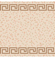 beige ceramic tile mosaic pattern vector image vector image