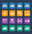 big data cloud computing icons set vector image vector image