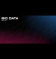 big data visualization dynamic multicolored vector image
