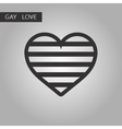 black and white style icon gays heart vector image vector image