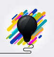 black light bulb icon idea concept vector image vector image