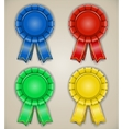 blank emblems with ribbons vector image vector image