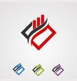 box market logo concept iconelement and template vector image